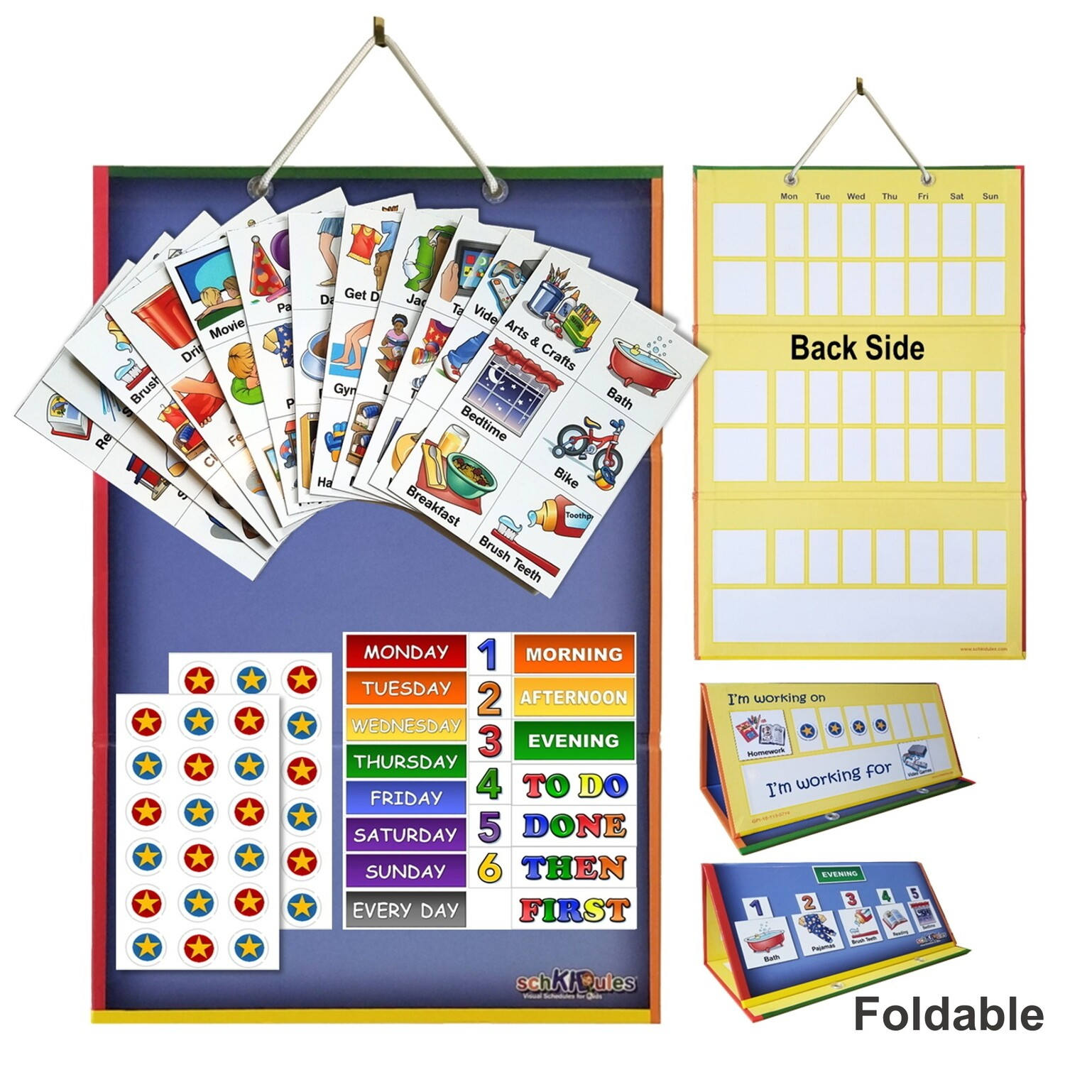 16 Feelings Magnets and 2 Sentence Starters SchKIDules Feelings Accessory Pack