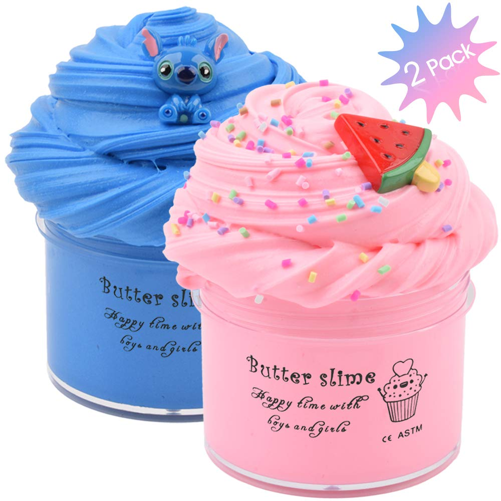 Floam Slime Stress Relief Scented Putty Sludge Toy Purple Butter Birthday Contton Candy Slime